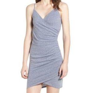 Soprano grey ruched bodycon dress